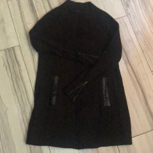 Black mid length sweater